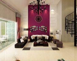 北歐家居設計風格躍層客廳燈具