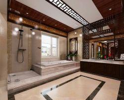 中式别墅厕所吊顶装修效果图