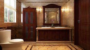 中式厕所 现代新中式风格装修效果图