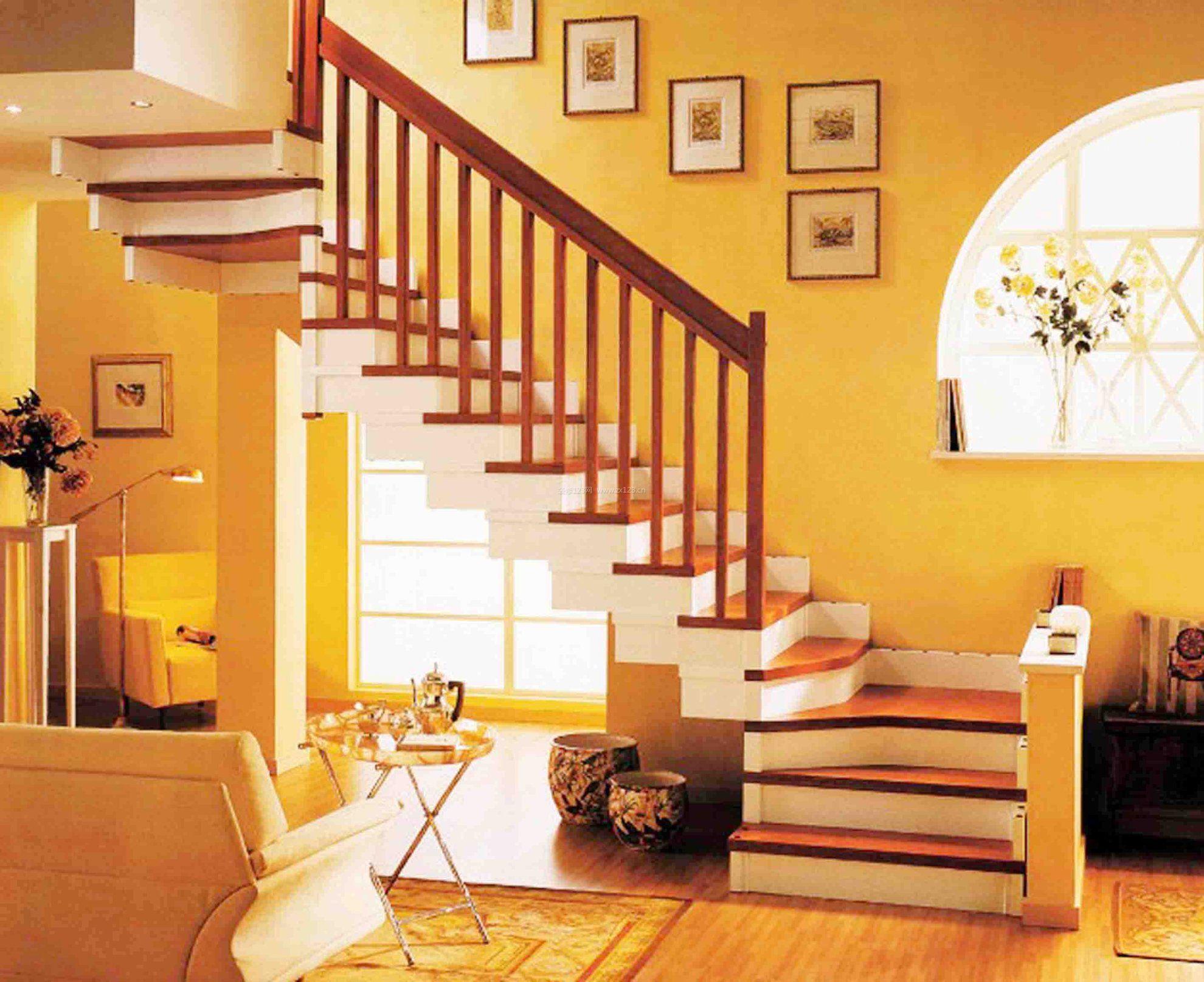 现代复式楼阁楼楼梯图片_装修123效果图