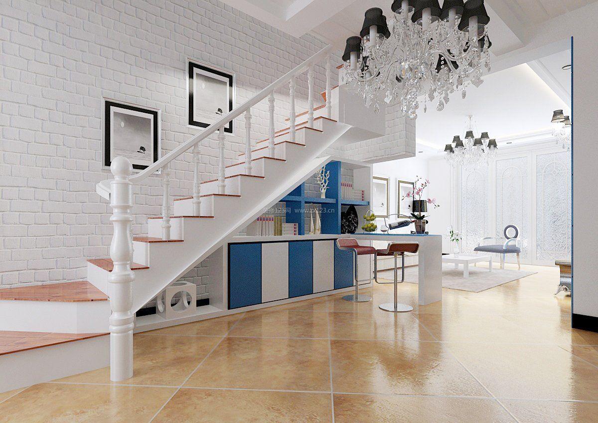 复式楼阁楼楼梯室内装饰设计效果图_装修123效果图