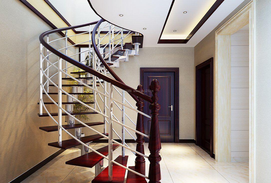 复式楼阁楼楼梯造型设计图片2017图片
