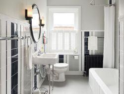 北歐風格衛生間浴簾隔斷設計圖片