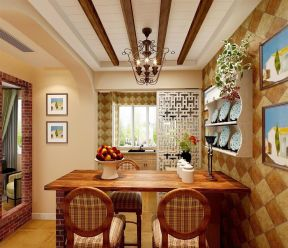現代廚房隔斷圖片  中式門框裝修效果圖