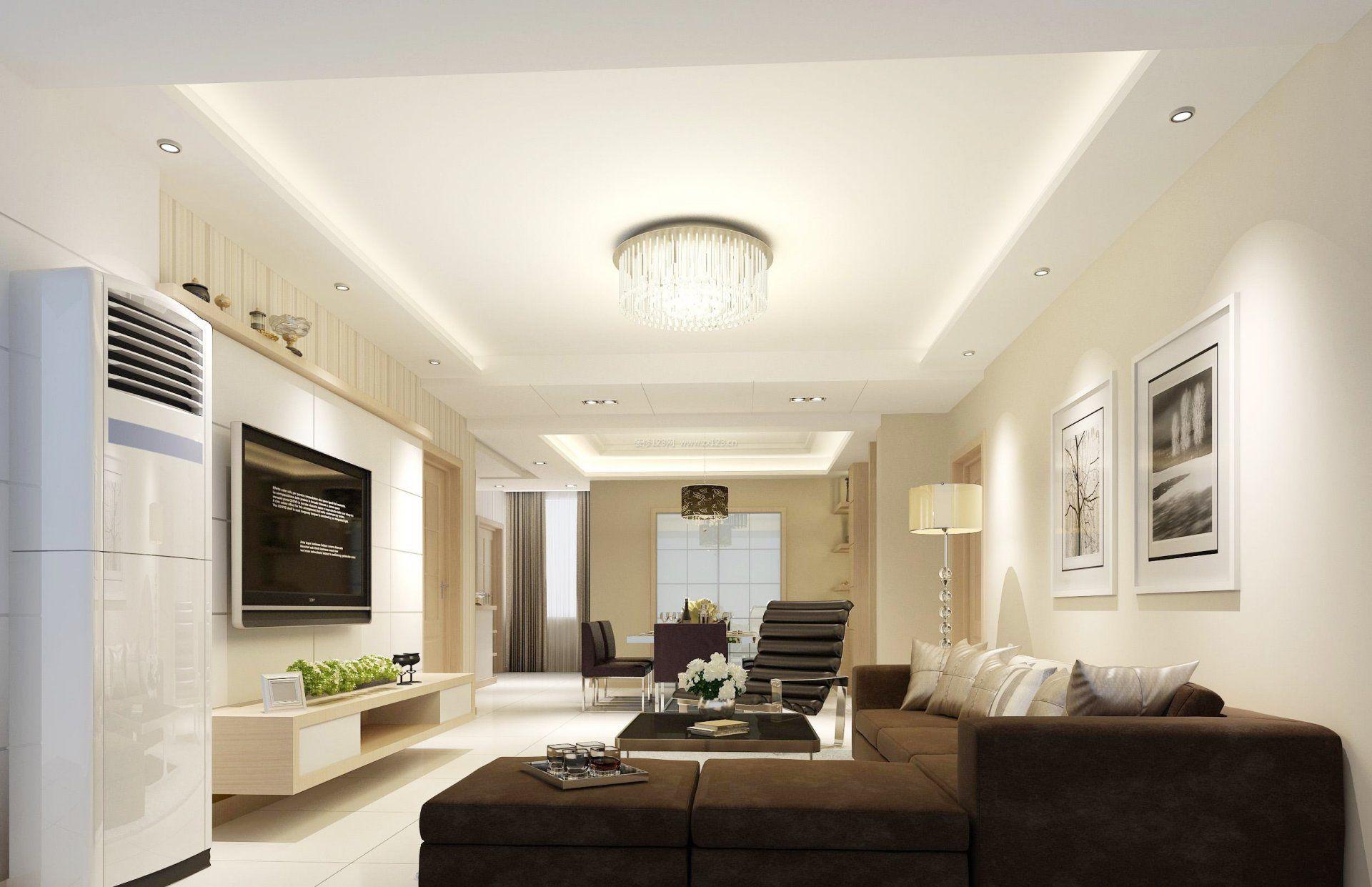 90平米小户型客厅简约装修设计效果图