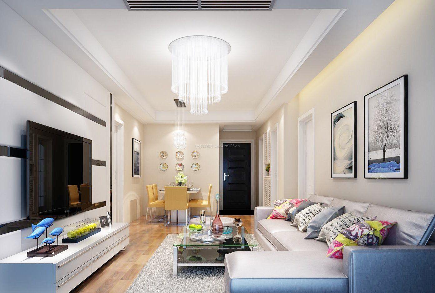 90平米小户型室内客厅简约装修效果图