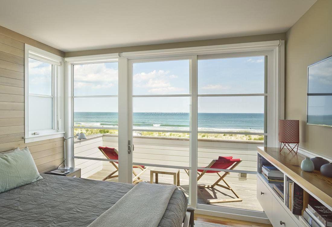 别墅卧室阳台设计图片_装修123效果图