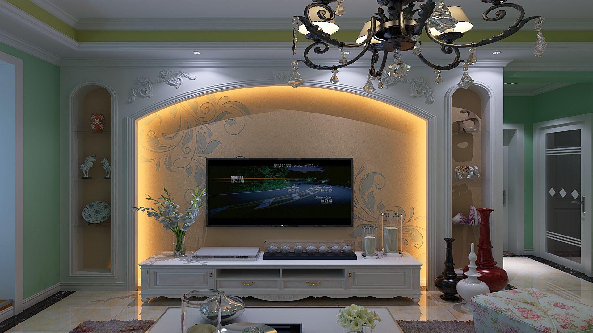 欧式装修图片 电视墙