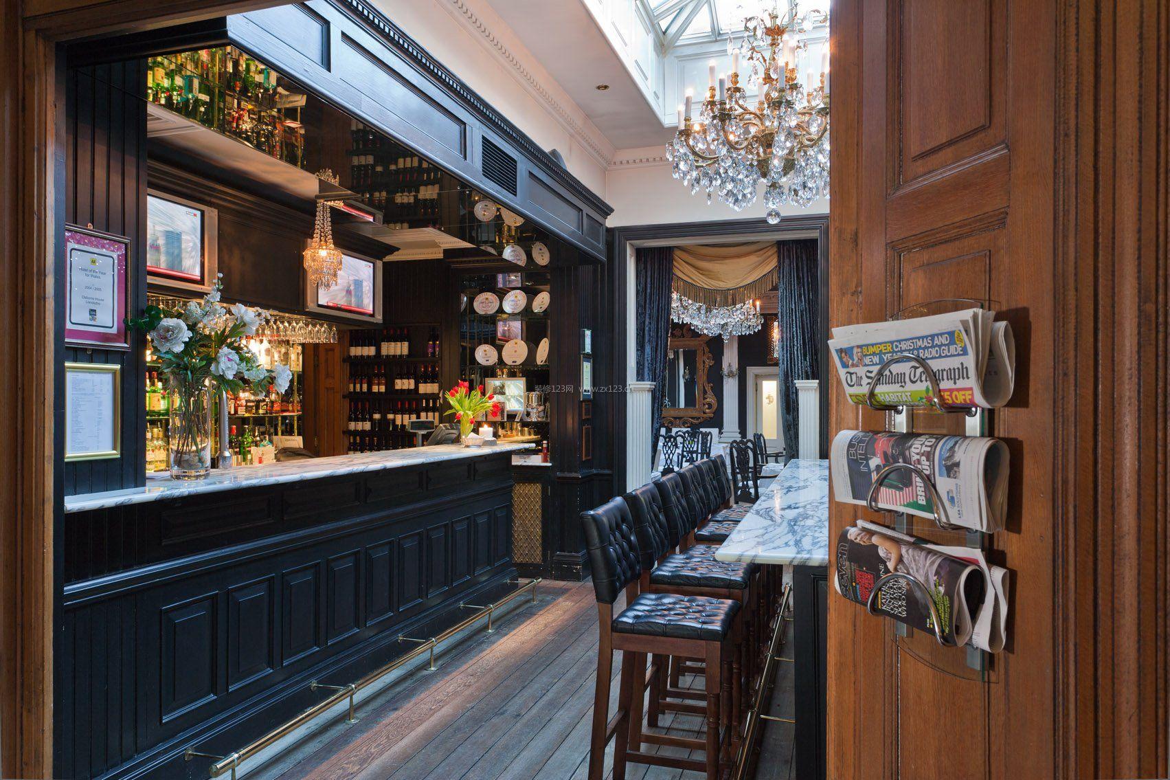 国外咖啡厅吧台设计图片大全_装修123效果图图片