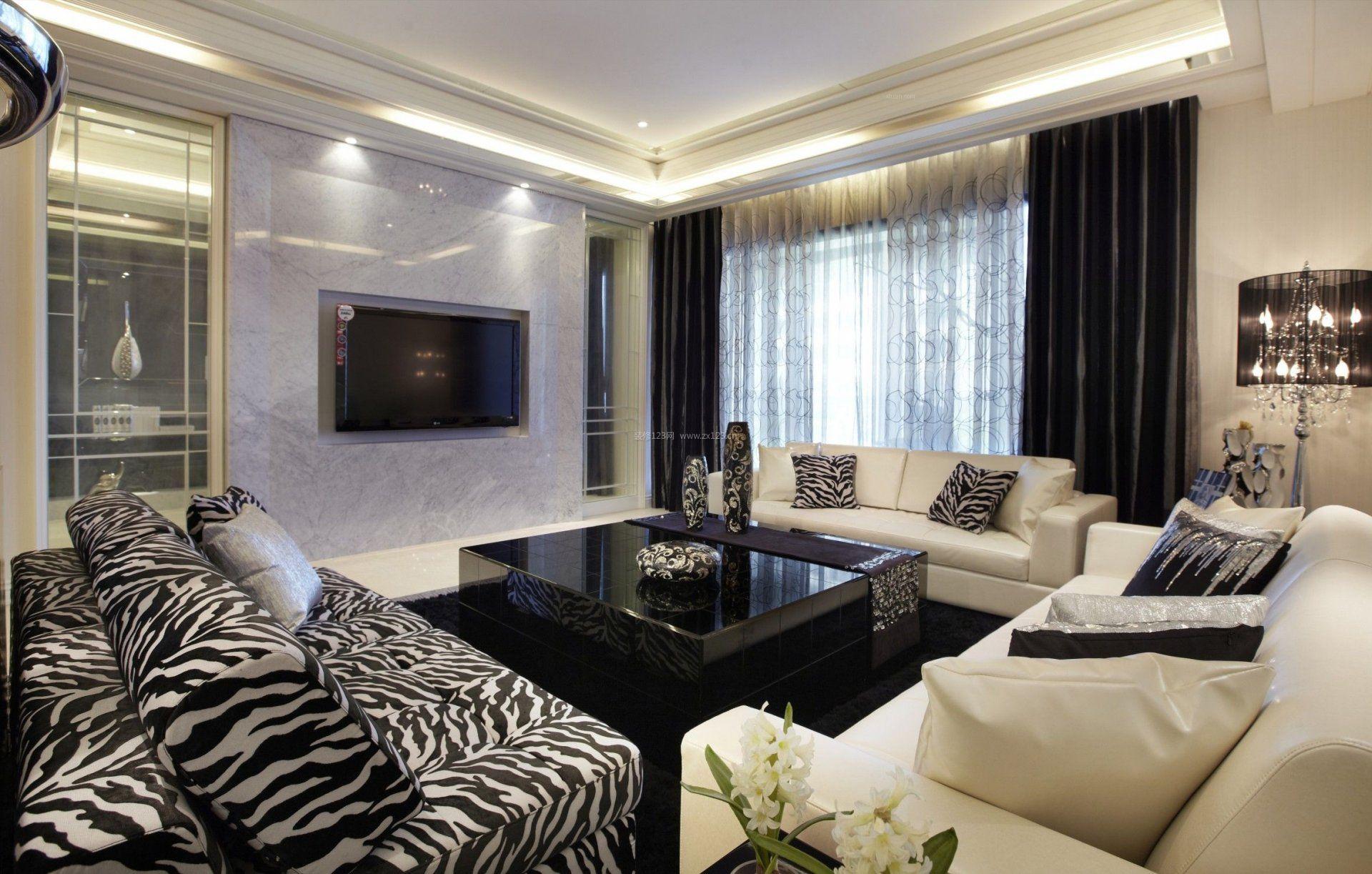 90平米小户型客厅简约装修效果图图片