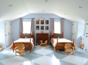 20平米臥室 鋪地磚的效果圖