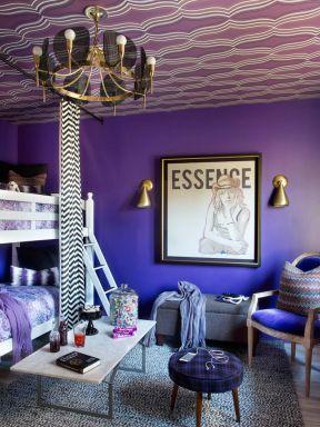 時尚臥室裝修效果圖 高低床裝修效果圖片