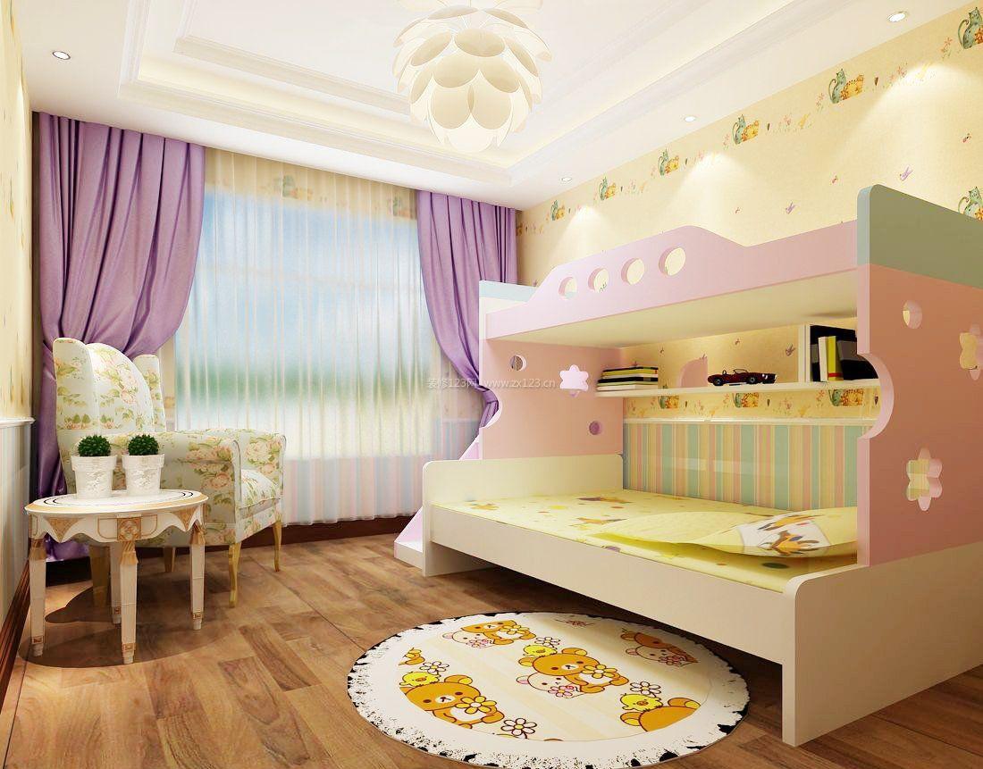 8平米儿童房双层床装修效果图片
