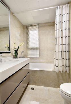 家庭衛生間浴簾隔斷裝修效果圖片