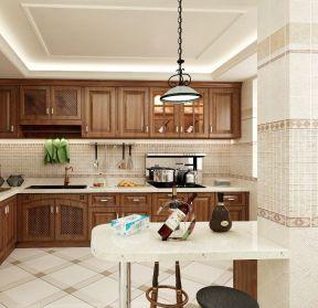小居室厨房 现代美式装修效果图