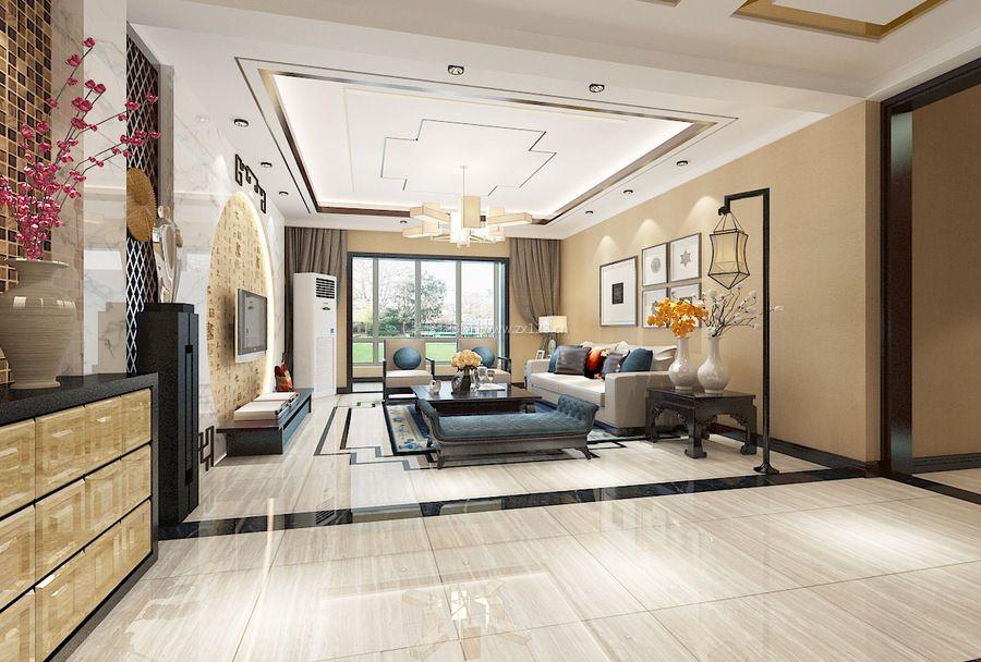 简单中式风格家居客厅装修效果图图片