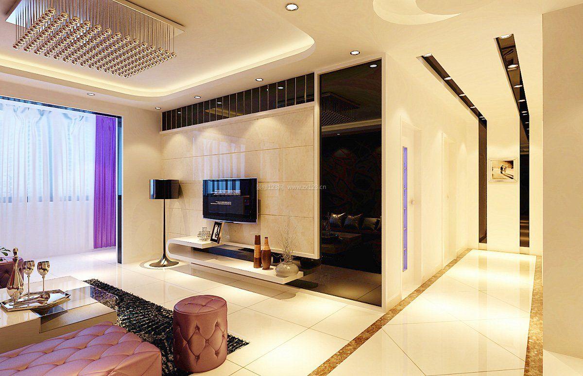 140平米电视瓷砖背景墙效果图