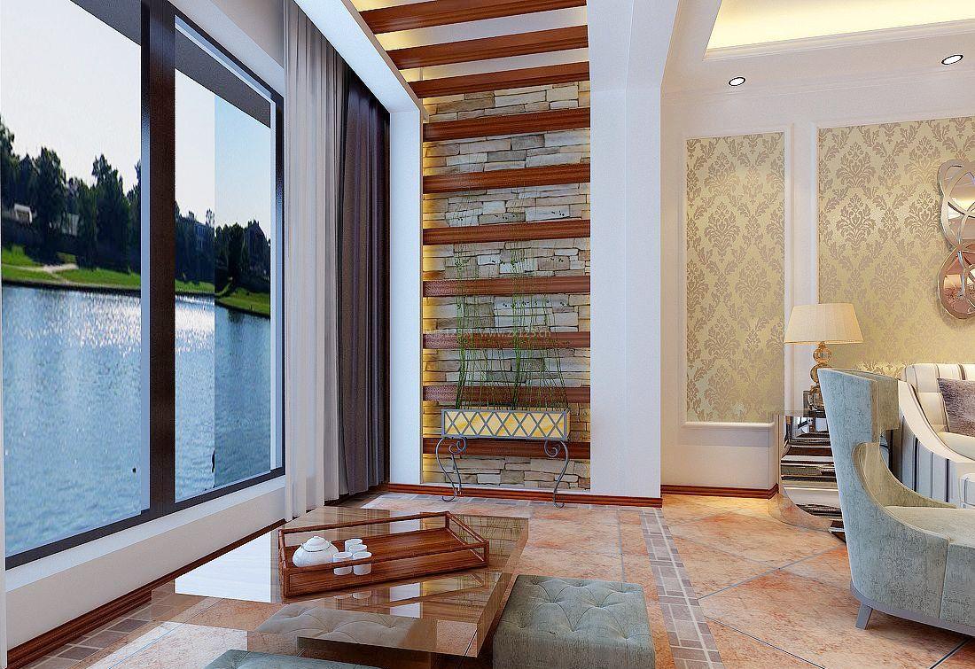 客厅通阳台设计装修效果图片
