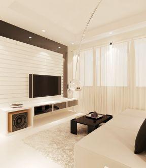 简约现代房屋 客厅电视墙设计