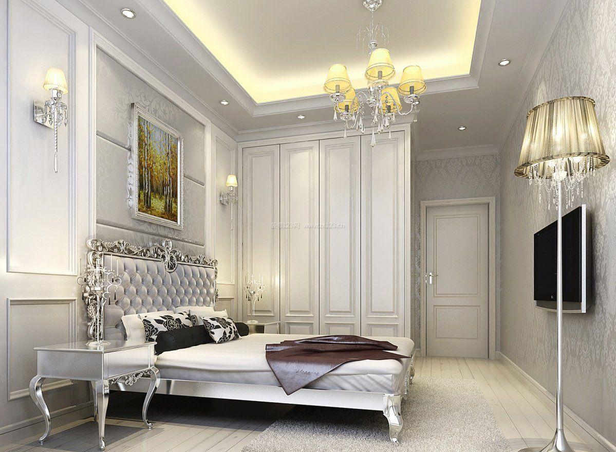 现代简欧家居16平米小卧室装修效果图图片