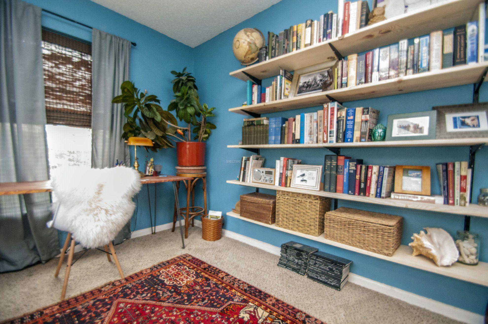 小户型建筑室内书柜设计效果图