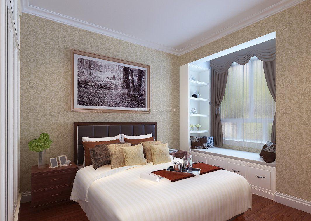 16平米小卧室飘窗窗帘效果图_装修123效果图图片