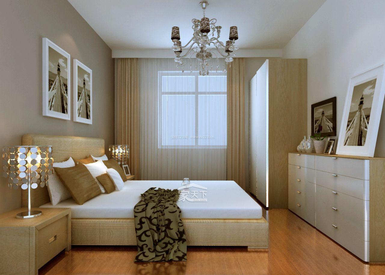 16平方米小卧室家具摆放图片欣赏_装信通网效果图