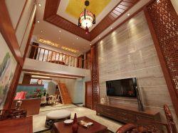 复式楼别墅客厅精装修效果图图片