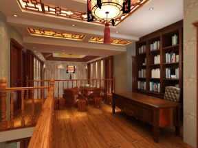 新中式别墅 新中式风格书房装修效果图