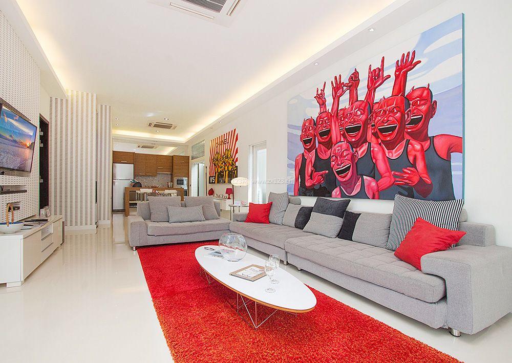 120平方房子简约客厅风格装修设计效果图片大全