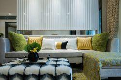 現代新房客廳沙發背景墻裝修效果圖欣賞