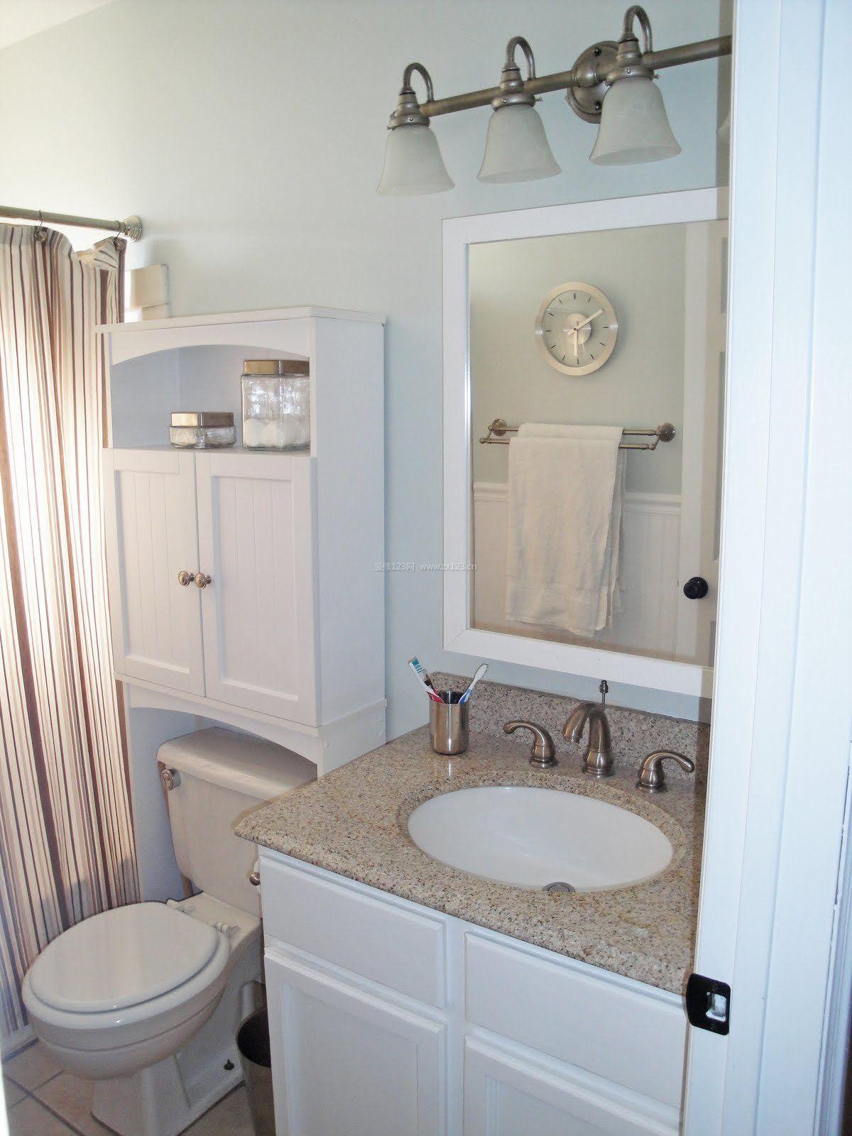 小面积卫生间洗手池装修效果图片