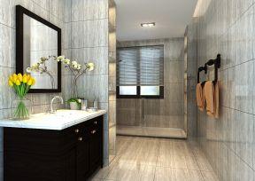 新中式卫生间装修效果图 干湿分离卫生间装修效果图