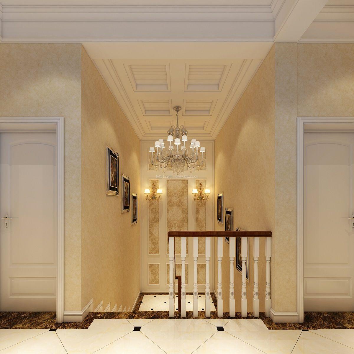 欧式家装木龙骨石膏板吊顶装修效果图图片