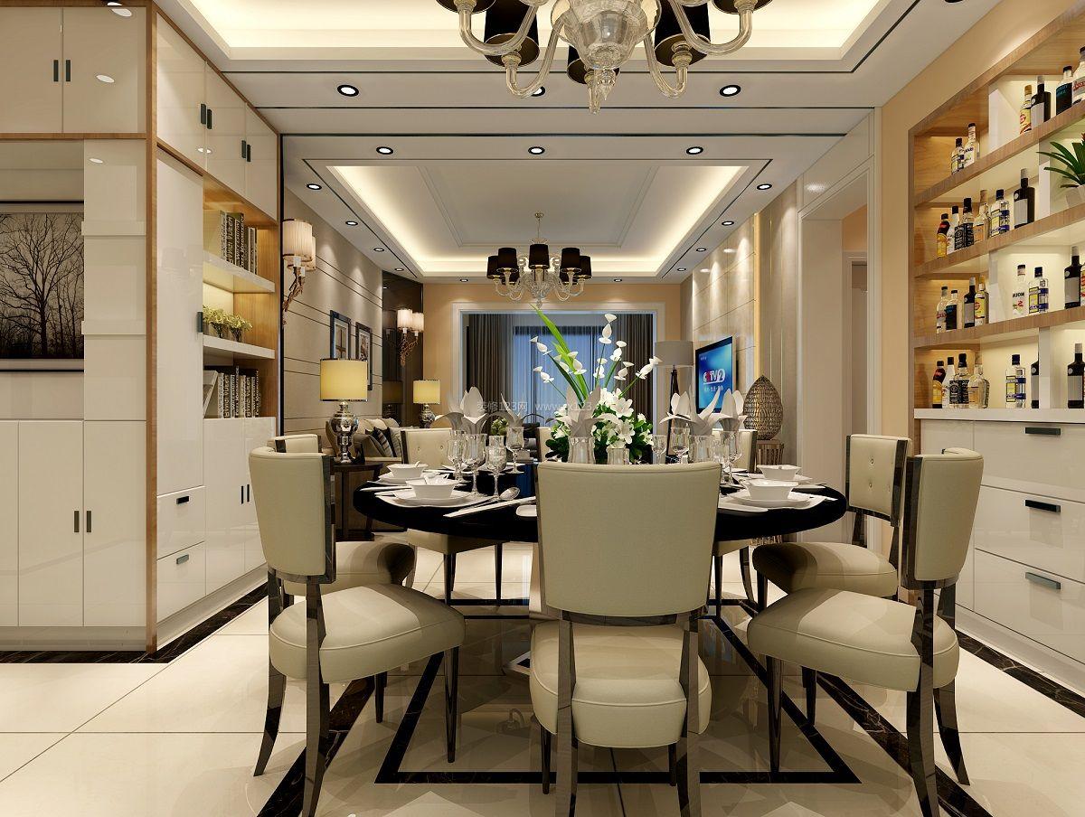 现代港式风格家庭餐厅装修效果图片