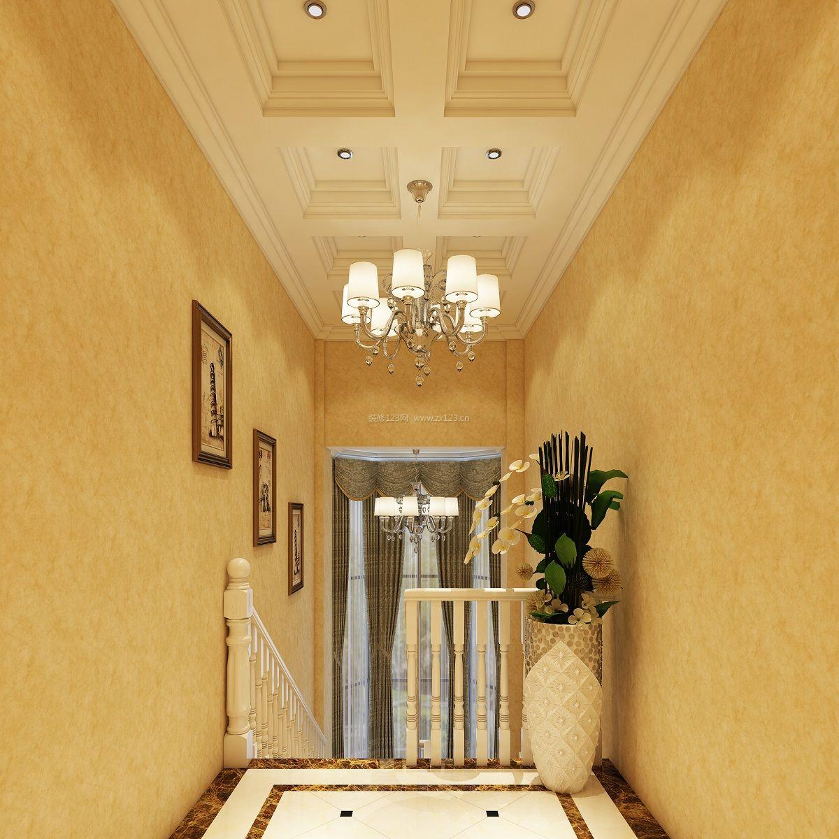 欧式跃层楼梯装修效果图图片