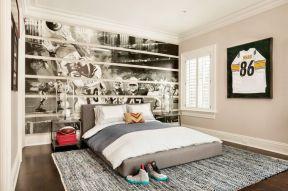 家裝臥室背景墻 墻畫圖片