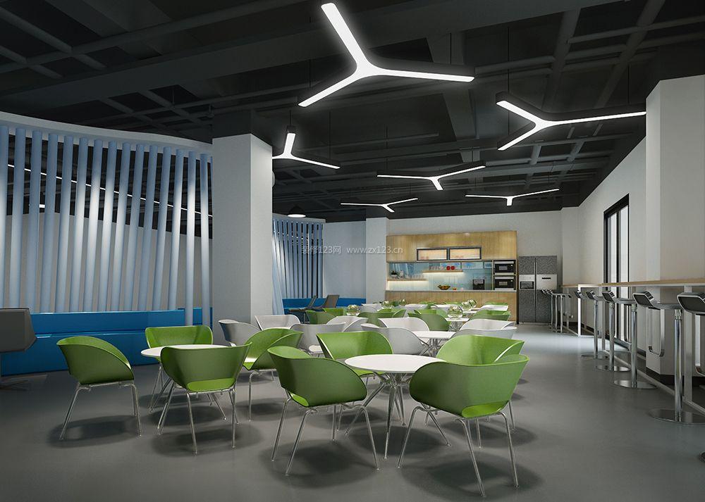 现代风格办公室员工餐厅装修效果图片