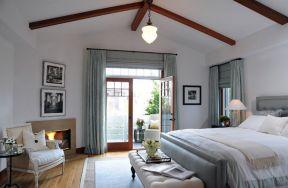 主卧室阳台装修效果图 地中海风格卧室图片