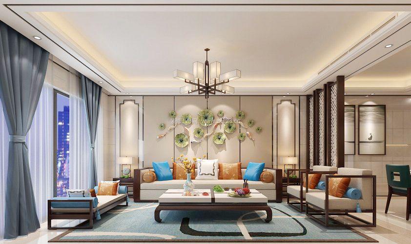 新中式元素客厅窗帘设计图片图片