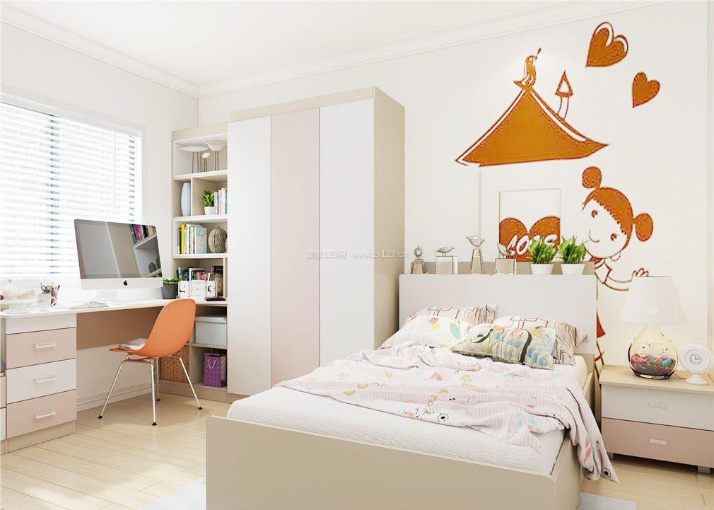 10平米儿童卧室飘窗书桌装修效果图片