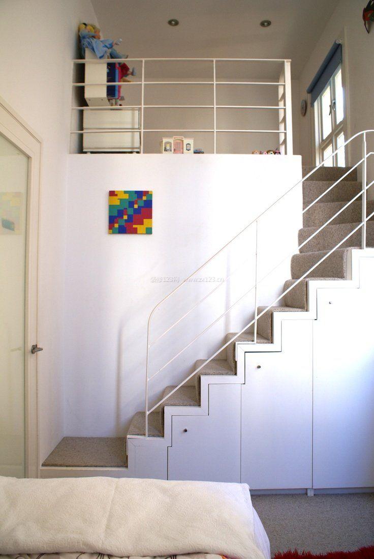 简约现代家具风格顶楼带阁楼楼梯装修图片