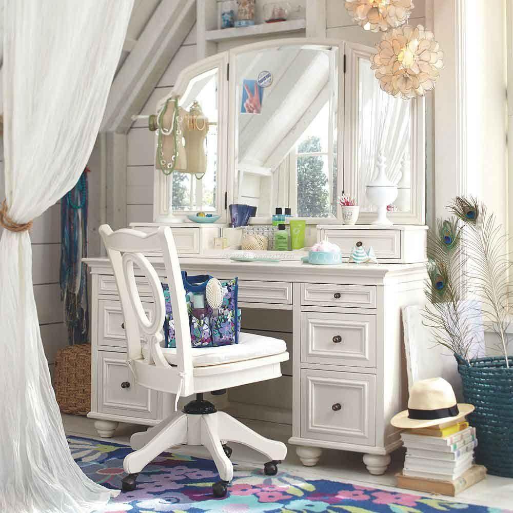 家装效果图 欧式 现代欧式简约风格卧室梳妆台装修效果图 提供者