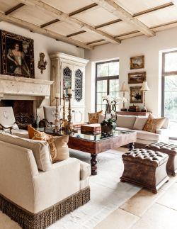 房子地中海風格客廳家具設計擺放圖片