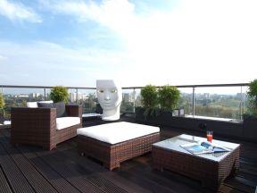 阳台实用 新中式风格阳台装修效果图