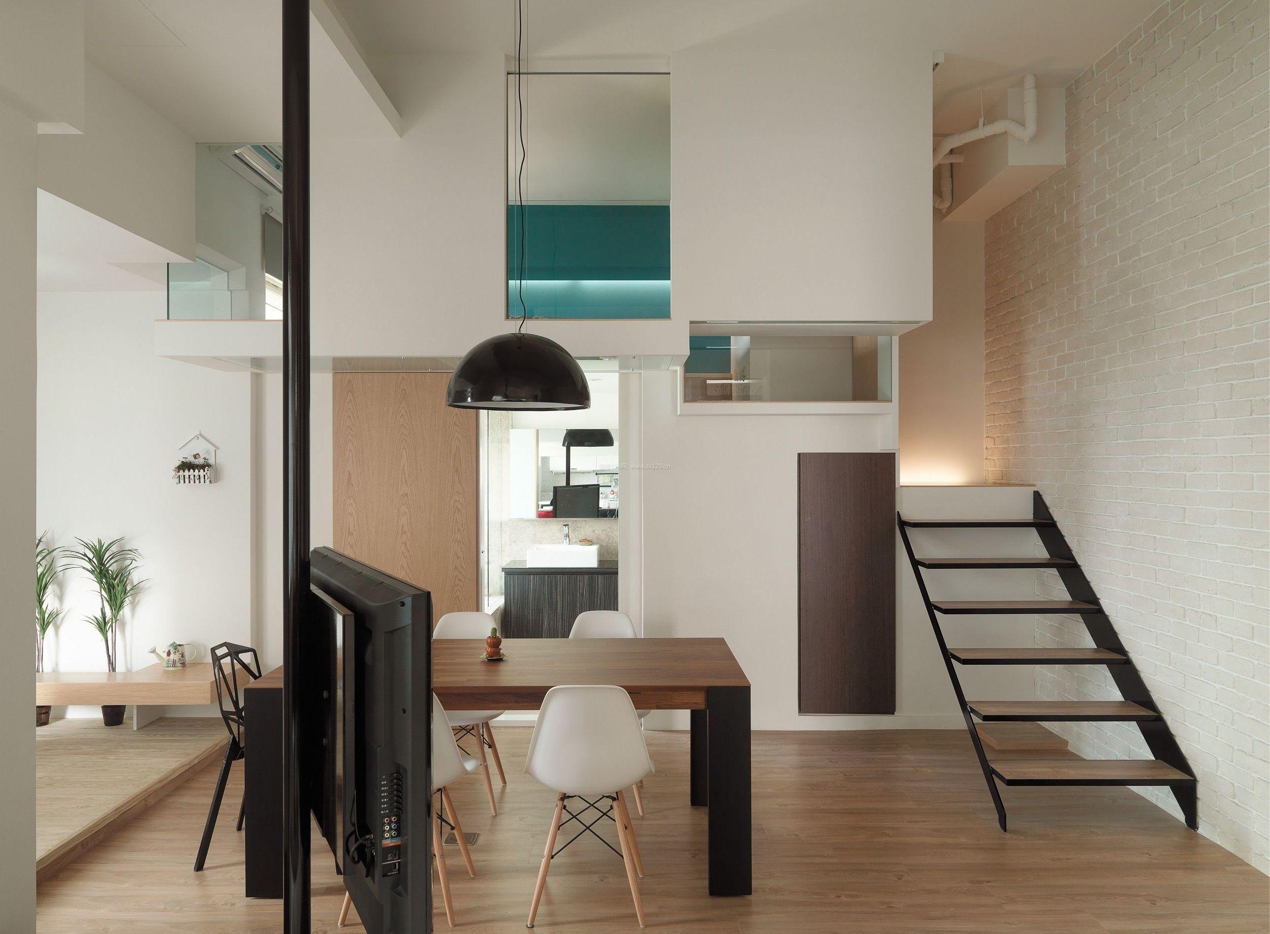 北欧简约风格家居原木地板装修效果图片