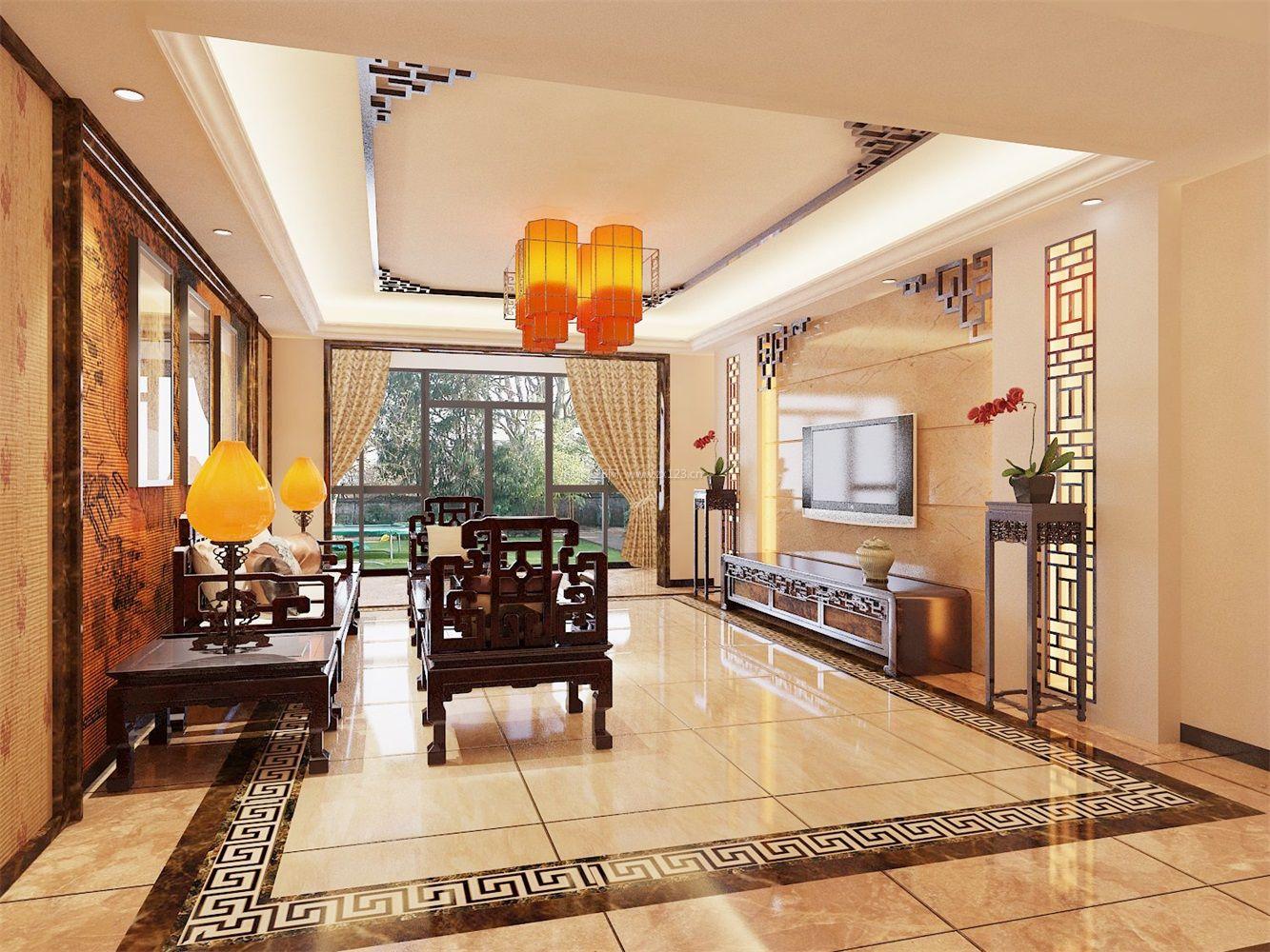 中式客厅古典家具效果图