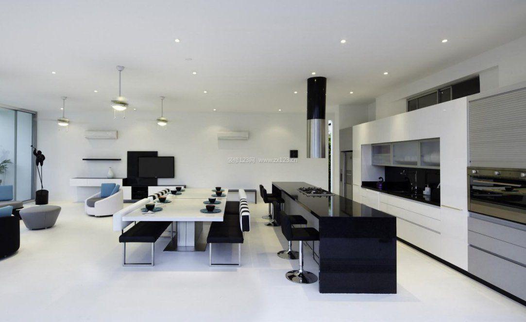 黑白时尚家居橱柜设计效果图