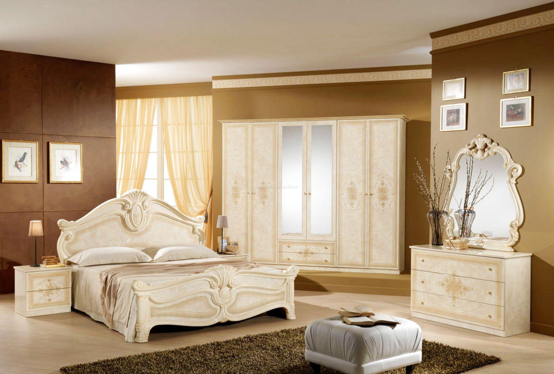 简欧式卧室带衣柜装修效果图