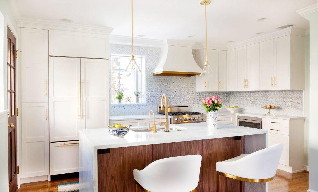 简欧式厨房吧台隔断设计
